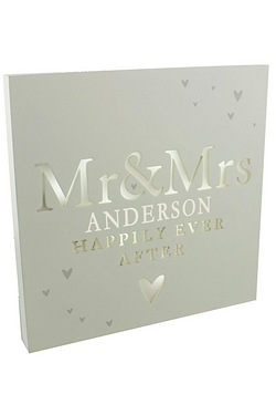 Mr & Mrs LED Plaque