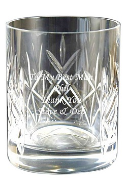 Cut Crystal personalised Whisky Tum...