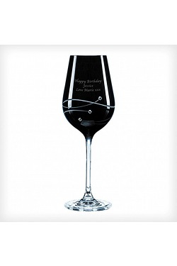 Swarovski Onyx Wine Glass