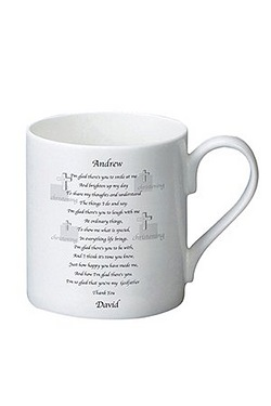 Personalised Godfather Poem Bone Ch...