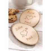 Personalised Tree Carving Coasters