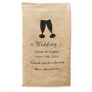 Personalised Wedding Hessian Bag
