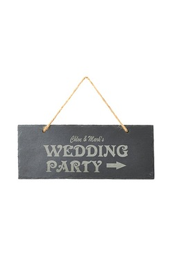 Personalised Wedding Party Slate Sign
