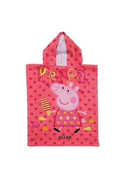 Personalised Kids Poncho - Peppa Pig