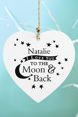 To the Moon and Back...Wooden Heart...