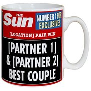 Personalised The Sun Anniversary Mug