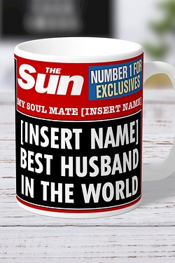 Personalised The Sun Best Husband Mug