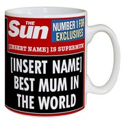 Personalised The Sun Best Mum Mug