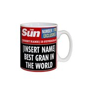Personalised The Sun Best Gran Mug