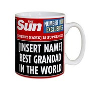 Personalised The Sun Best Grandad Mug