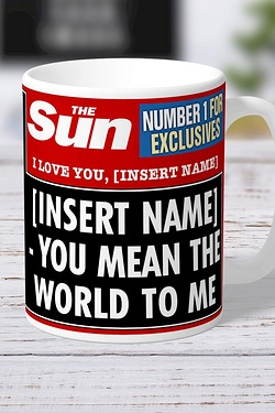 Personalised The Sun I love You Mug