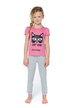 Personalised Cat Girl Pyjamas