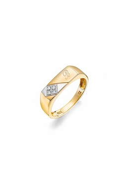 Personalised 9ct Gold Diamond Ring