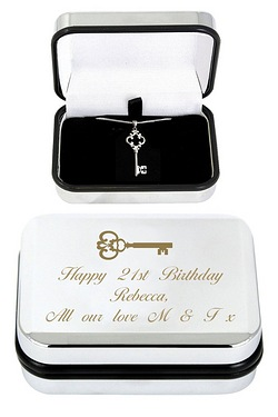 Ornate Key Necklace and Box