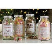 Personalised Sweet Jar - Mint Humbugs