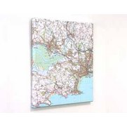 Personalised Canvas Maps - Landranger