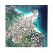 Personalised Canvas Maps - Aerial P...