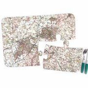 Personalised Map Jigsaw Placemats -...