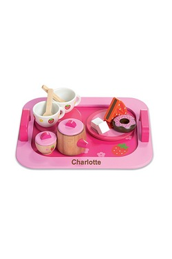 Personalised Wooden Tea And Cake Set