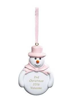 Personalised Snowman Decoration