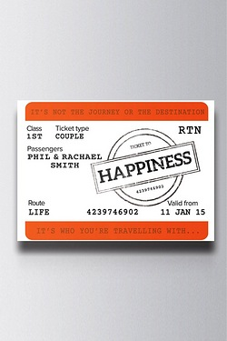 Personalised Train Ticket Canvas