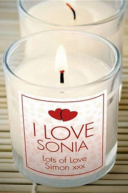 Personalised 'I Love' Scented Candle