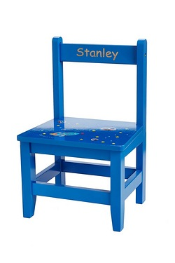 Blue Wooden Personalised Chair
