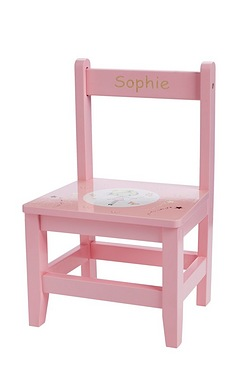 Pink Wooden Personalised Chair