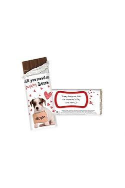 Personalised Puppy Love Chocolate Bar
