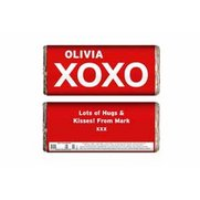 Personalised XOXO Slogan Chocolate Bar