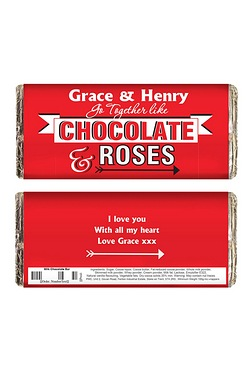 Personalised Chocolate & Roses Choc...