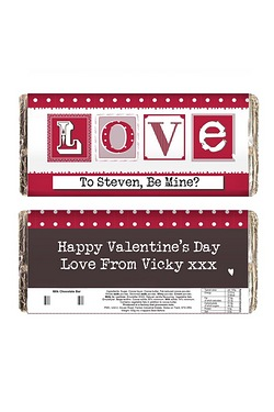Personalised LOVE Chocolate Bar