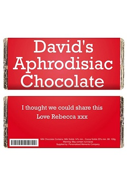 Personalised Aphrodisiac Chocolate Bar