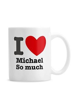 Personalised I HEART Mug