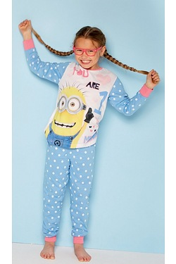 Girls Minions Personalised Pyjamas