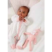 Pink Baby Sleepsuit With Personalis...
