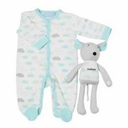 Baby Sleepsuit With Personalised To...