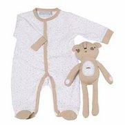 Grey Baby Sleepsuit With Personalis...