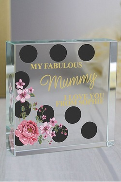 Personalised Floral Polka Dot Cryst...