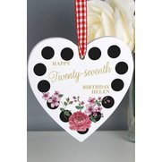 Personalised Floral Polka Dot Woode...