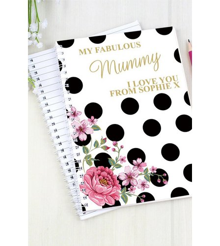 Image for Personalised Floral Polka Dot Notepad from ace