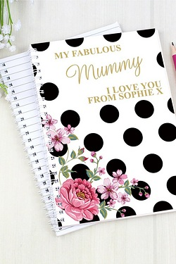 Personalised Floral Polka Dot Notepad