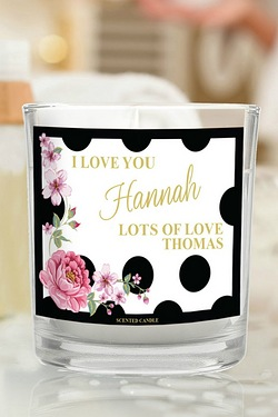 Personalised Floral Polka Dot Scent...