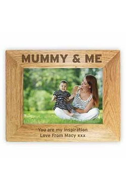 Personalised Mummy & Me Wooden Phot...
