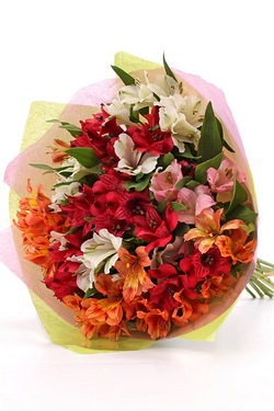 Personalised Alstroemeria Bouquet