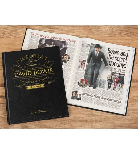 Image for David Bowie Pictorial Edition Newspaper Book from ace