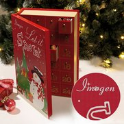 Personalised Wooden Advent Book