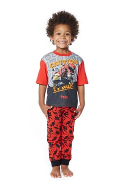 Boys Personalised Dino Trux Pyjamas