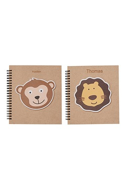 Pack of 2 Personalised Animal Woode...