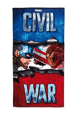 Personalised Kid's Towel - Civil War